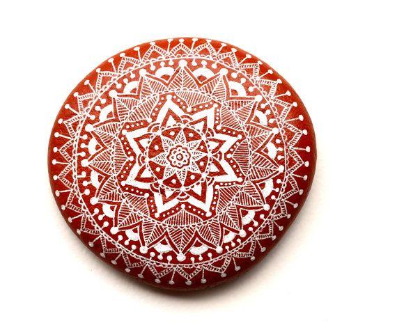 Handgemalte Stein (Adria) Mandala