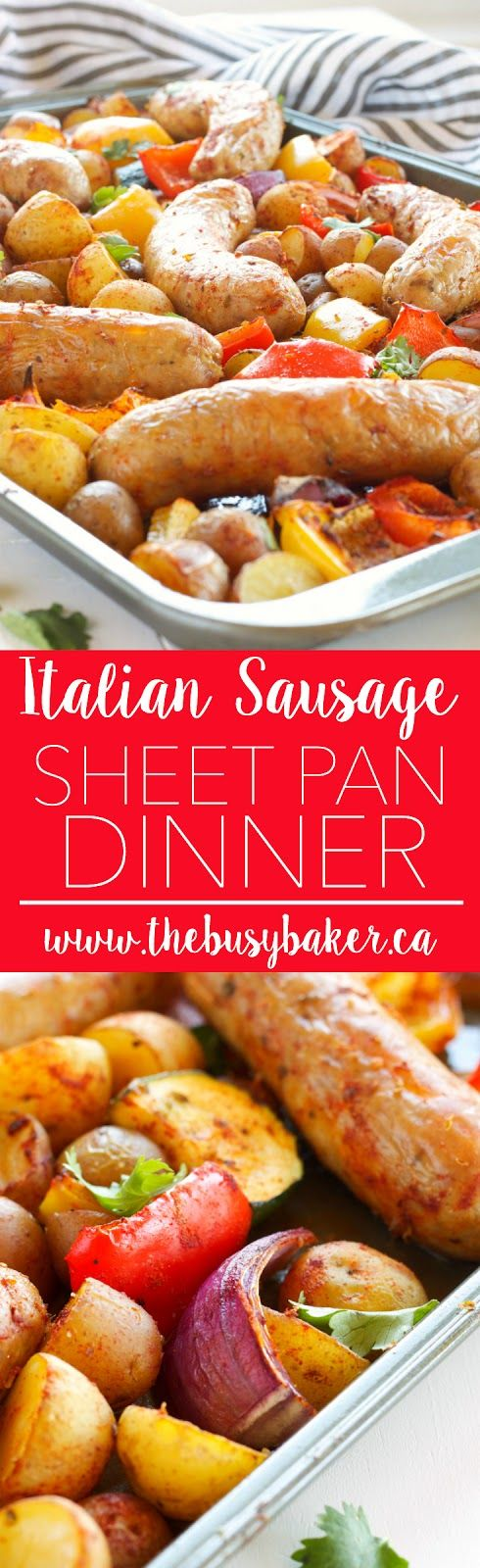 Photo of Italian Sausage Sheet Pan Dinner – The Busy Baker