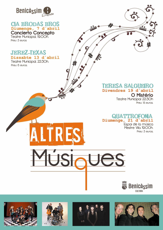 """Cartel """"Altres Músiques"""". Benicàssim.2013"""