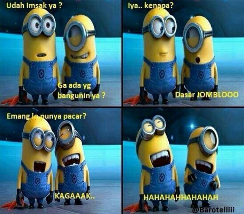 Minion Jomblo Minions Funny Minions Funny