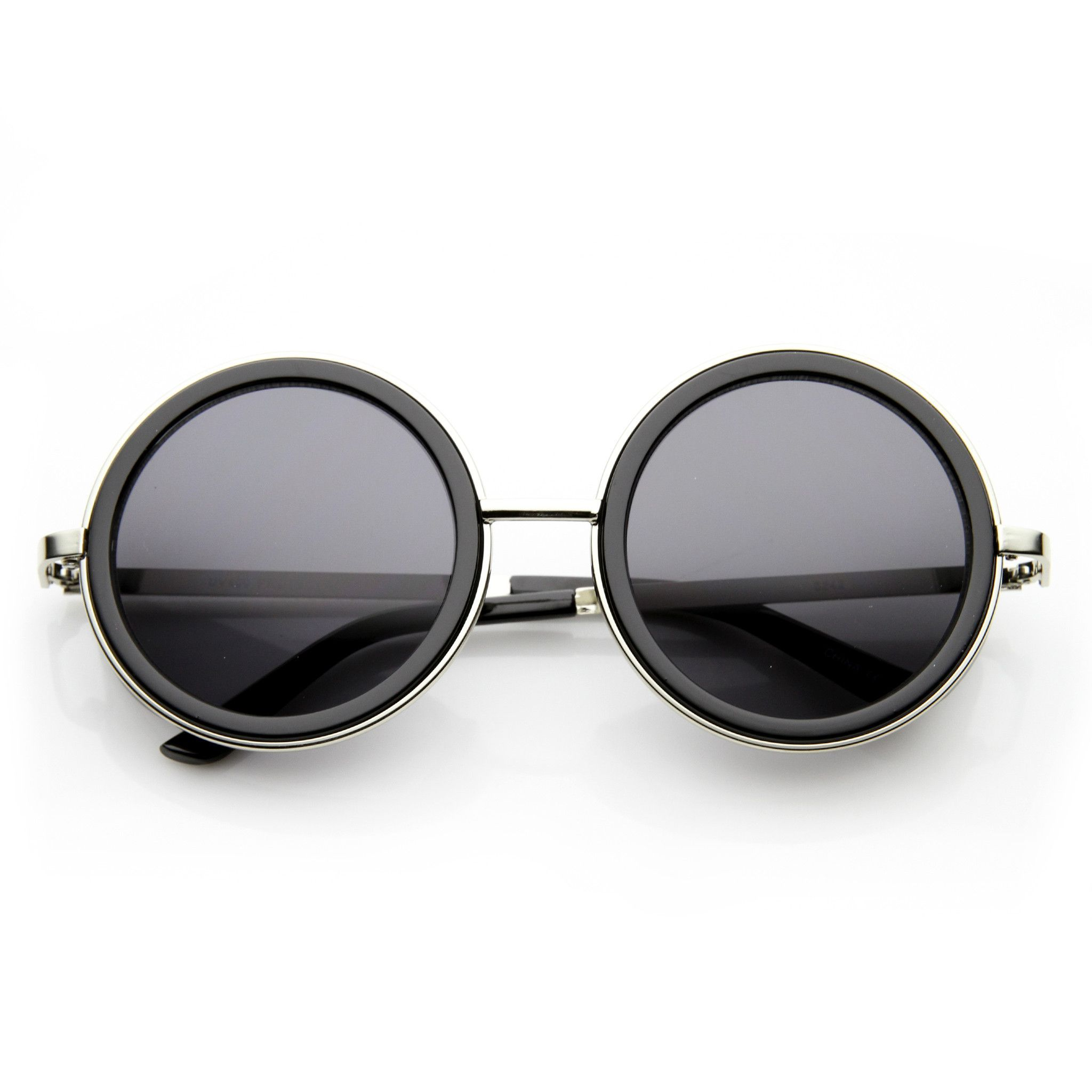 7378d841a7edc Vintage Inspired Steampunk Round Studio Cover Sunglasses 9629 ...