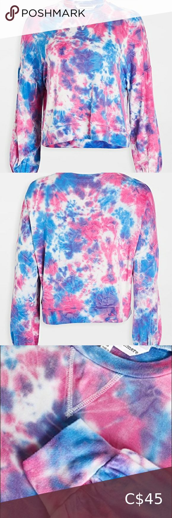 New Cupcakes Cashmere Tie Dye Sweater Nwt Cupcakes And Cashmere Tie Dye Sweater Tie Dye Sweatshirt [ 1740 x 580 Pixel ]