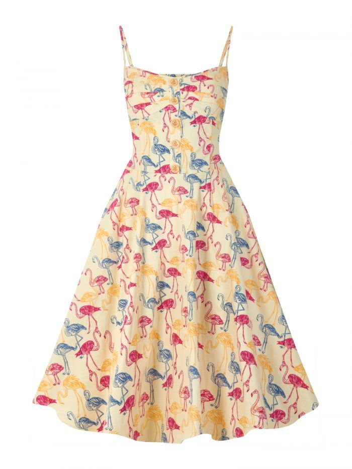 Flamingo Print Novelty Dress