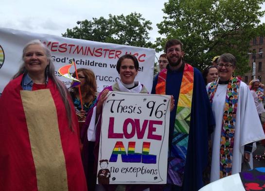 Hopeful pastors march for Spokane's LGBTQ community