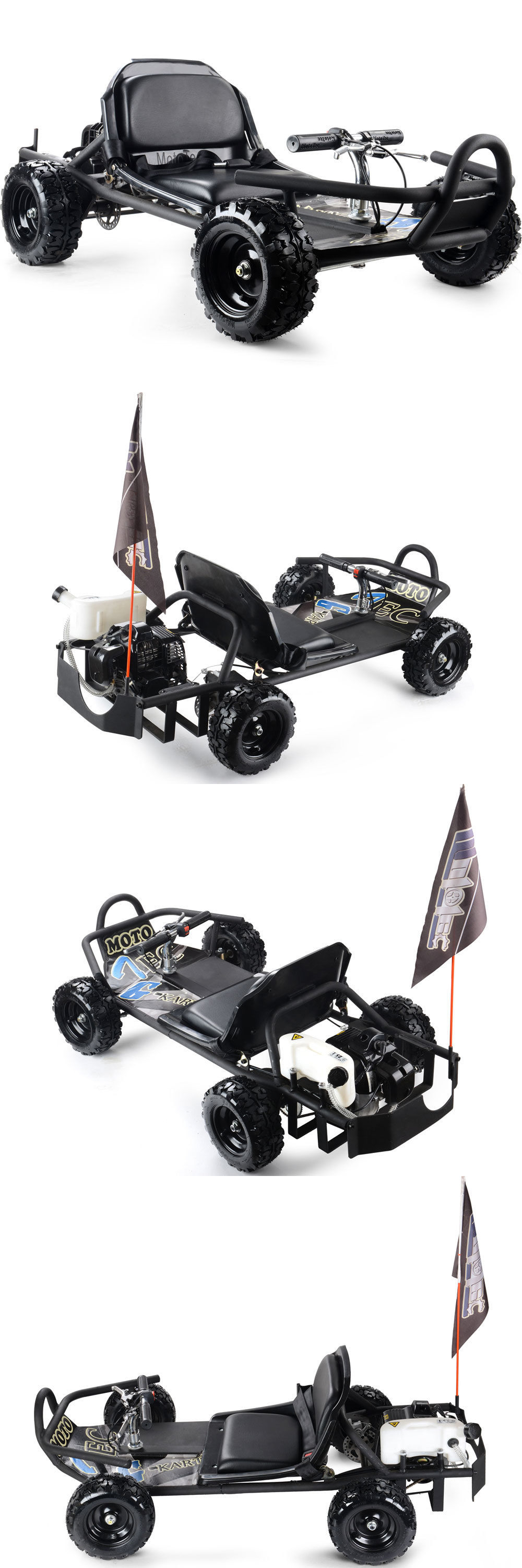 Complete Go-Karts and Frames 64656: 49Cc Gas Powered High Performance Mototec Sandman Go Kart Black Ride On Kids BUY IT NOW ONLY: $624.95