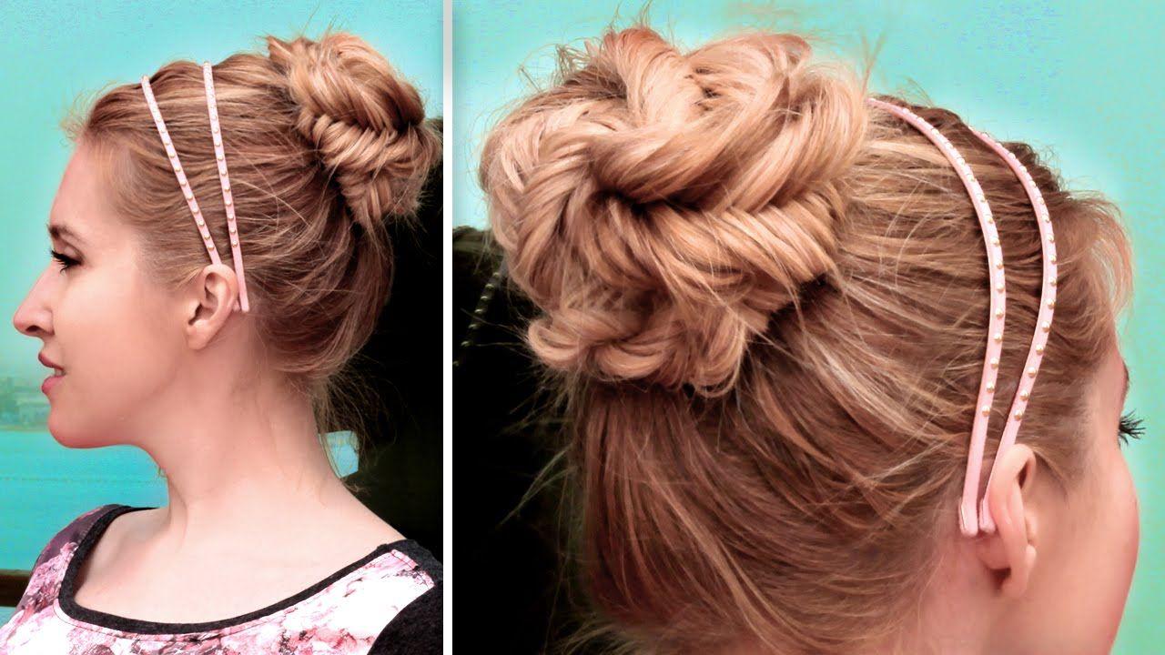 Chignon en tresse épi facile à faire ★ Tuto coiffure