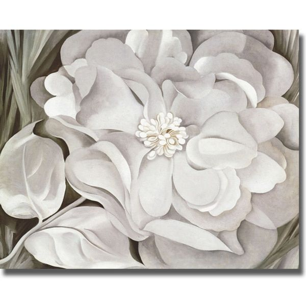 Georgia okeeffe the white calico flower canvas art overstock georgia okeeffe the white calico flower canvas art overstock shopping the best deals on gallery wrapped canvas mightylinksfo