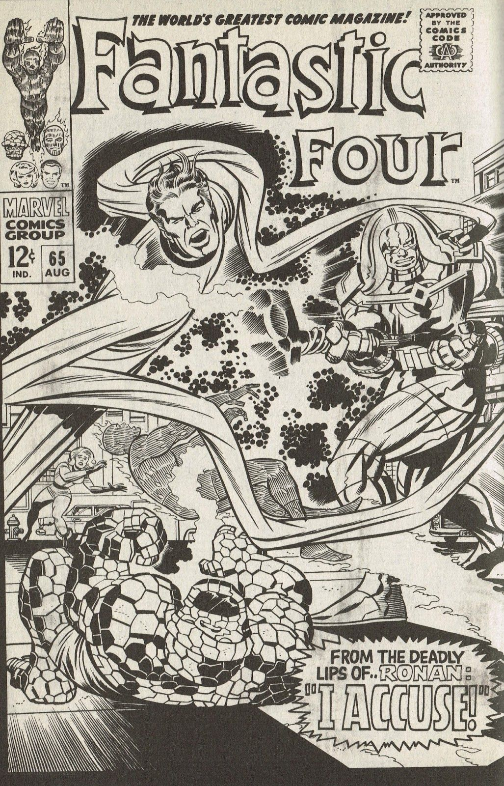 Cap'n's Comics: Two Covers For Fantastic Four #65 by Jack Kirby