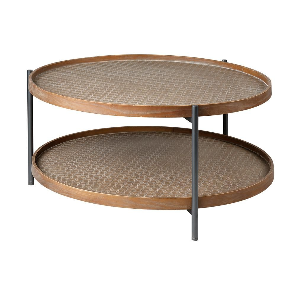 Mercana Kade 34 In Light Brown Medium Round Wood Coffee Table With Shelf 68542 The Home Depot Coffee Table Wood Coffee Table With Shelf Round Wood Coffee Table [ 1000 x 1000 Pixel ]
