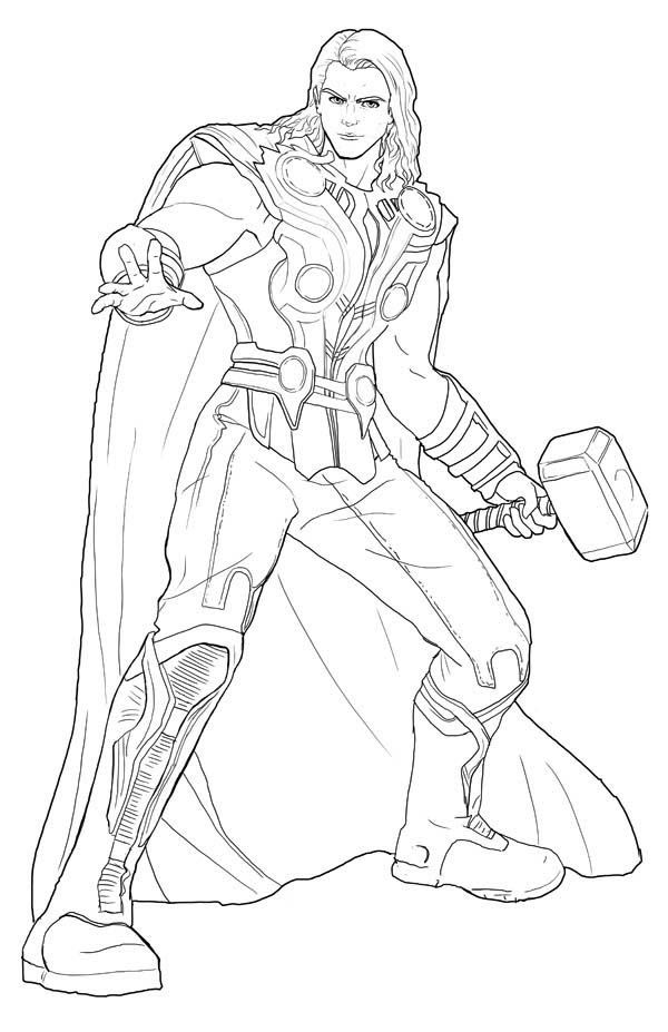 Awesome Thor Picture Coloring Page | Avengers coloring ...