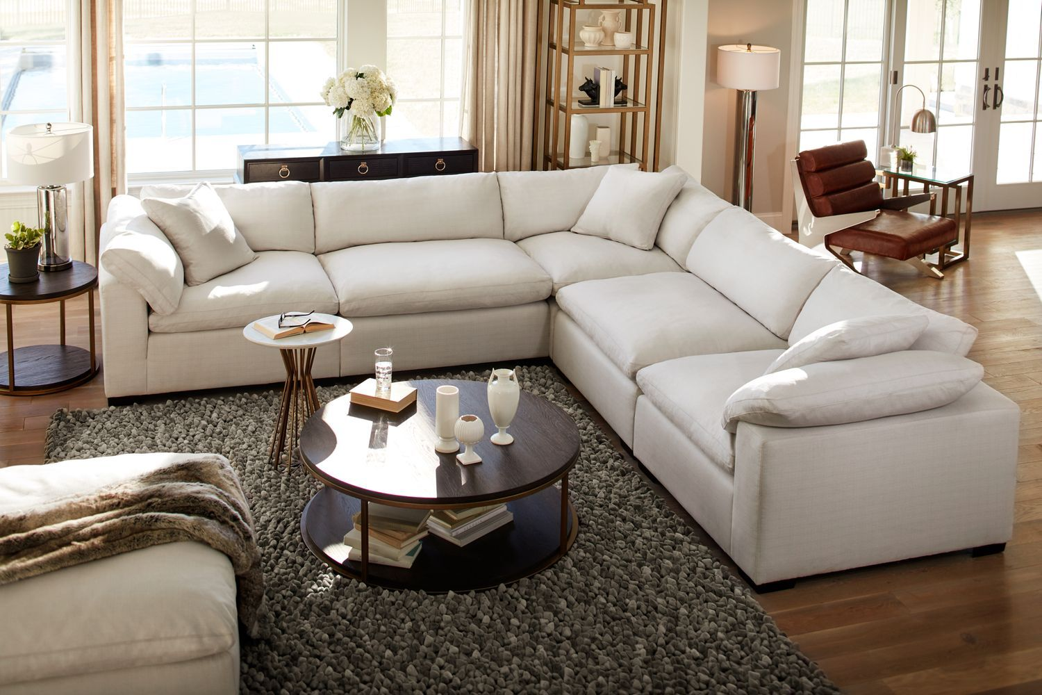 Living Room Furniture Plush 6 Piece Sectional Ivory Living Room Collections Value City Furniture Home Living Room