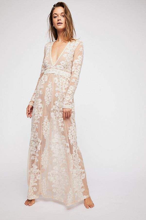 29842dfb3719 For Love & Lemons Temecula Maxi Dress Free People Wedding Dress, Free  People White Dress