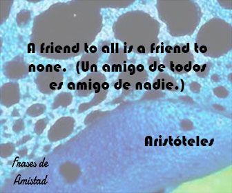 Frases De Amistad En Ingles De Aristoteles Frases Pinterest