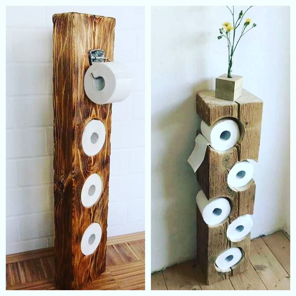 Rustic Wood Block Toilet Paper Holder Rustic Toilet Paper Holders Diy Bathroom Decor Rustic Toilets
