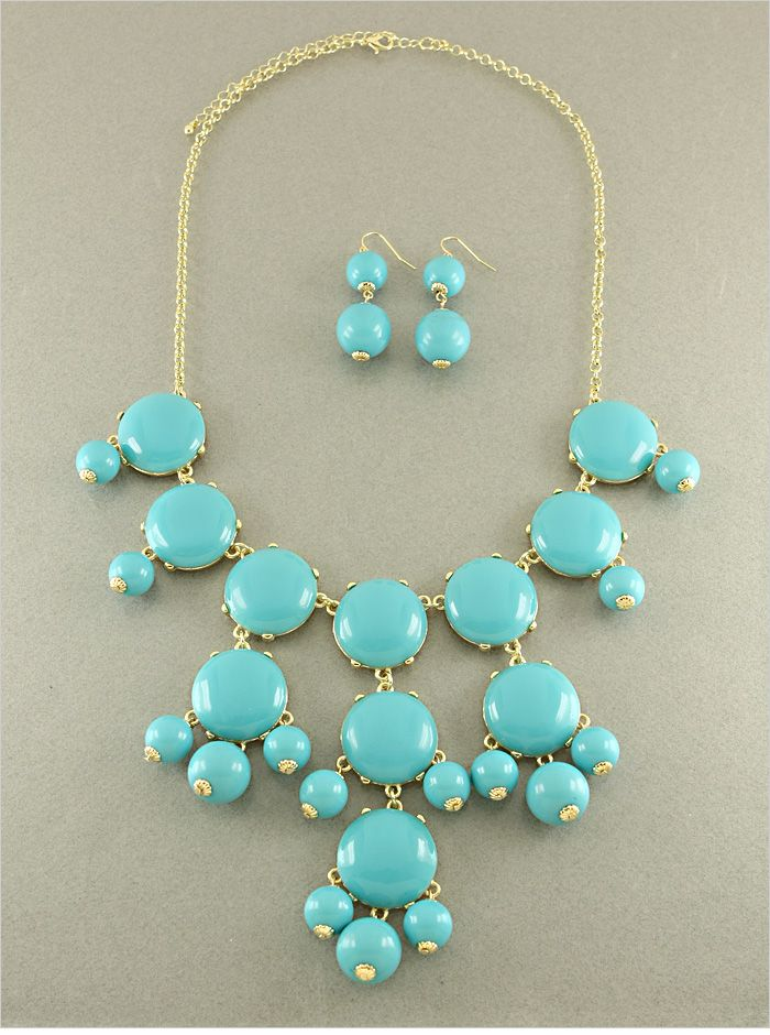 9da1311be P.S. I Love You More Boutique | Sky Blue Chrissy Necklace and Earring Set |  Online