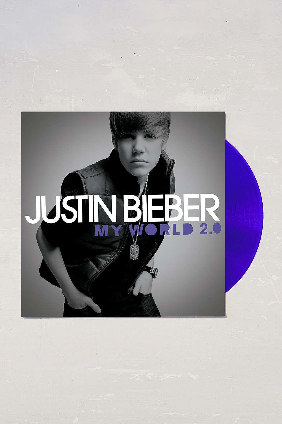 Justin Bieber My World 2 0 Lp Justin Bieber My World Vinyl Record Player Soundtrack To My Life