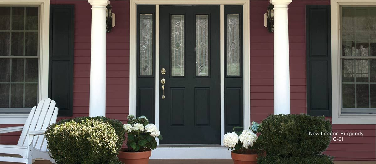 Siding Color New London Burgundy Painting Vinyl Siding Siding Paint Exterior Paint Colors