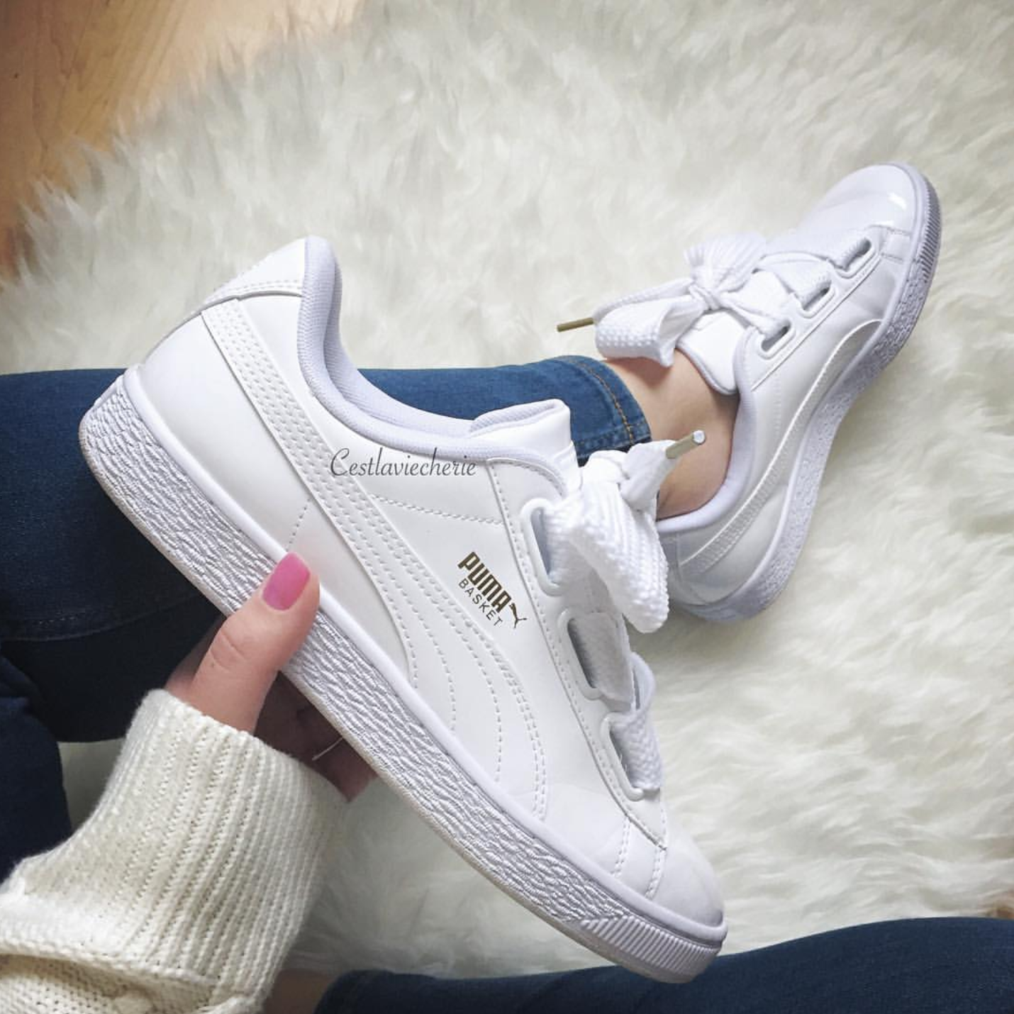 2018 Top Popular PUMA BASKET HEART PATENT WN'S Damen Schuhe