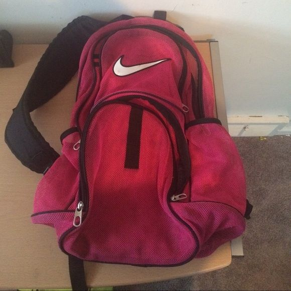 neon nike bookbag neon pink nike bag Nike Bags Backpacks