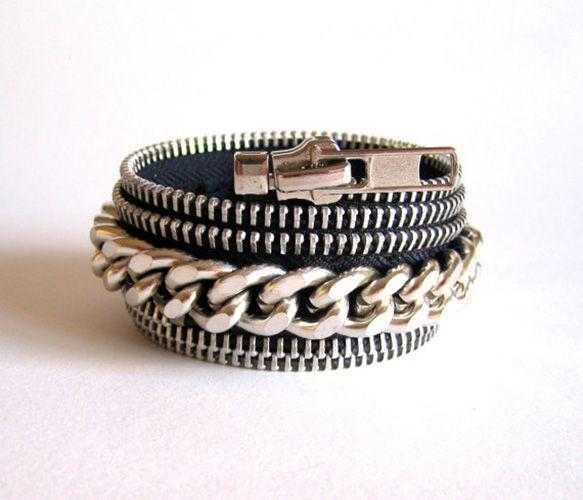 Zipper Chain Cuffs