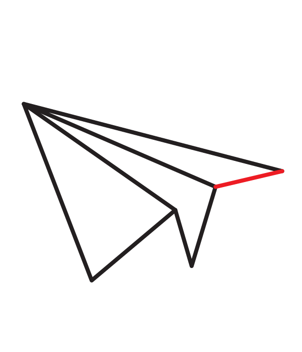 How To Draw A Paper Airplane Paper Airplane Drawing Paper Airplane Steps Airplane Drawing