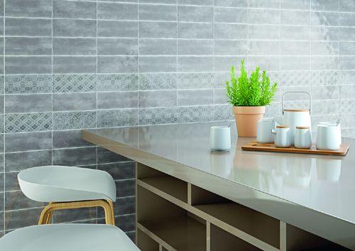 Maiolica Tender Gray Ceramic Base Wall Tile 4x10 Grey