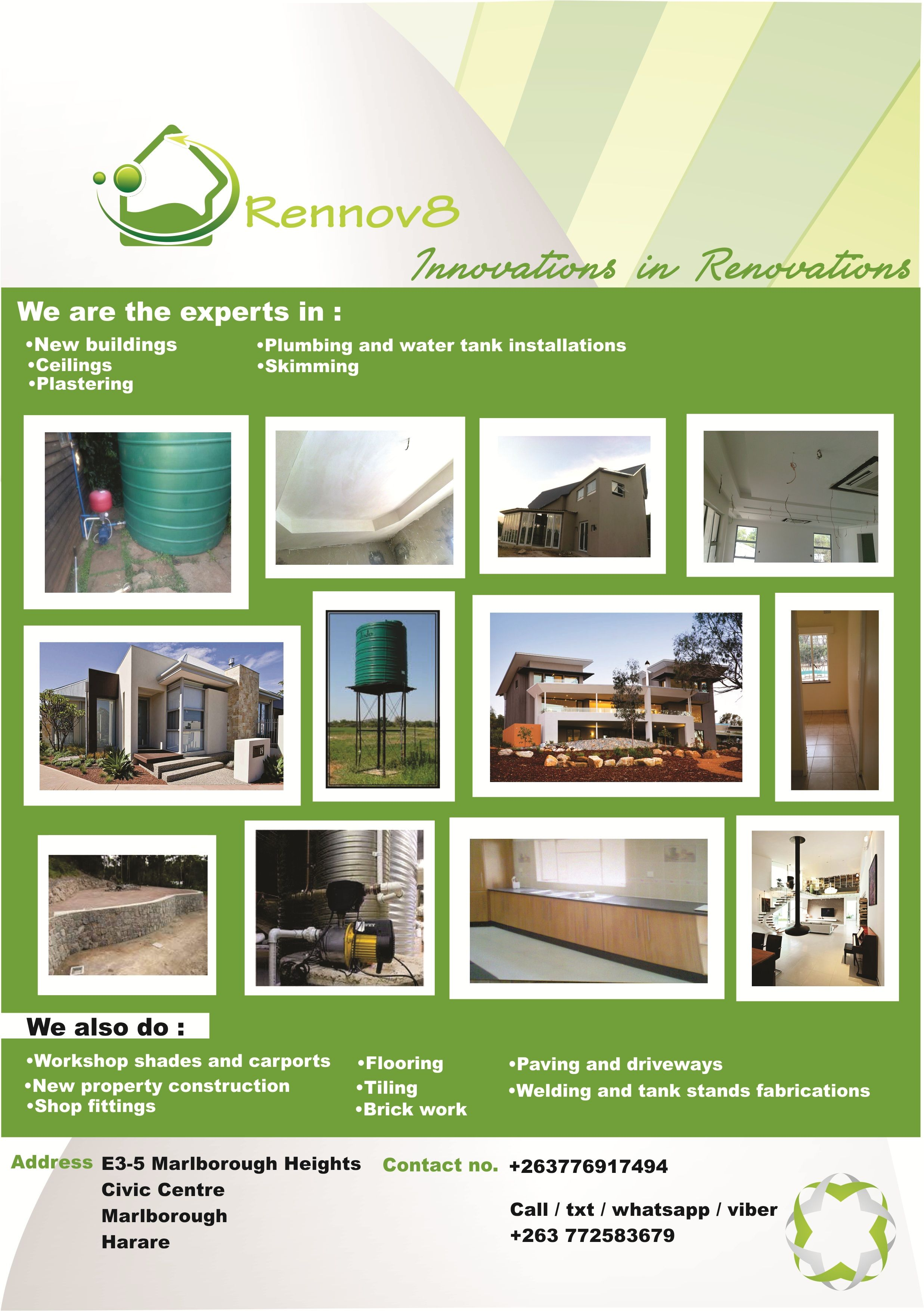 Rennov8 Innovative Rennovations Shop Fittings Tank Stand Water Tank