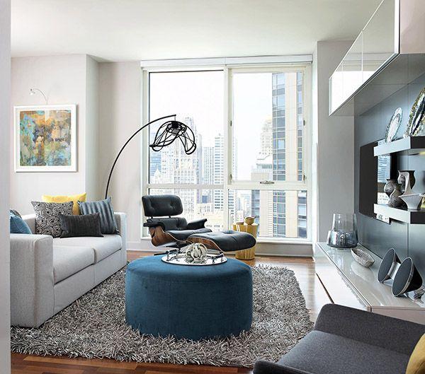 Chic Modern High Rise Apartment In Chicago Condo Living Room Condo Interior Condo Living