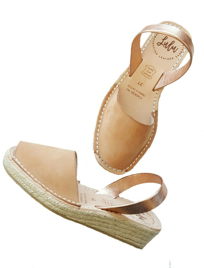 9e057ff2568 Wedge Low Espadrille Nubuck Tan Rose Gold