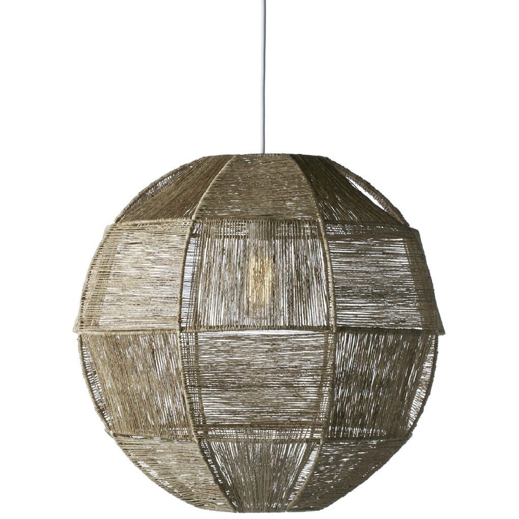 Selamat Highball Hanging Pendant San Juan Lighting Wiring A Single Bulb Light Fixture Cocktail Collection Finely Twisted Jute Fabric Is Stretched Over Sturdy Wire Frame To Create Mid Century Inspired Lamp