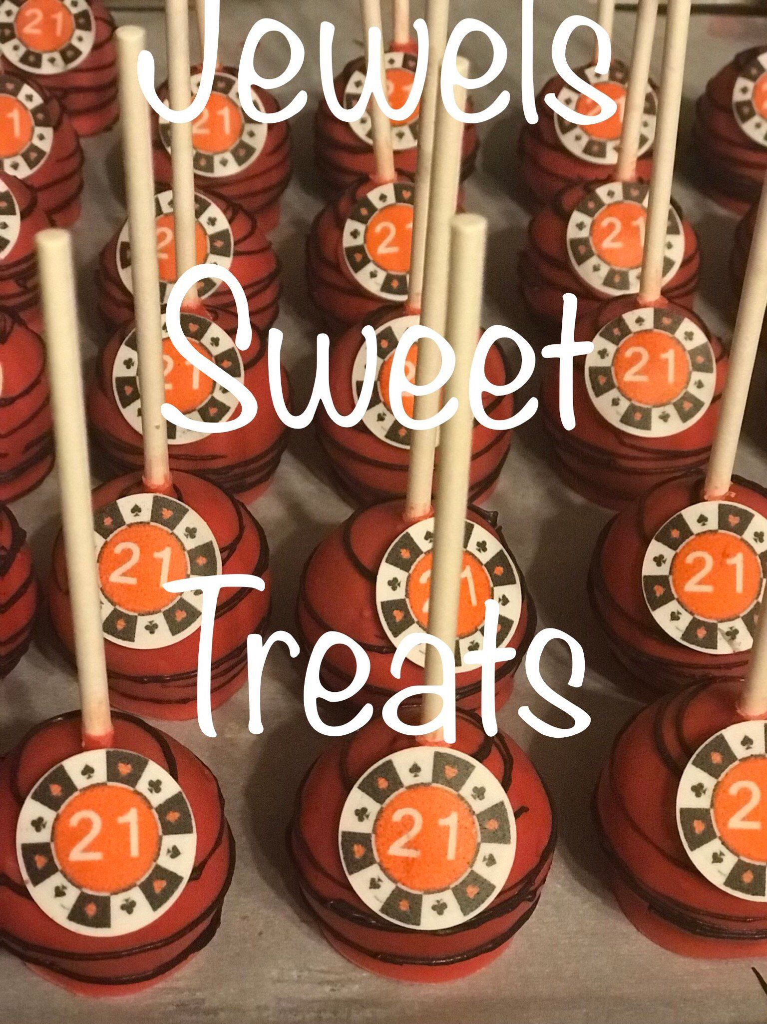 casino theme cake pops