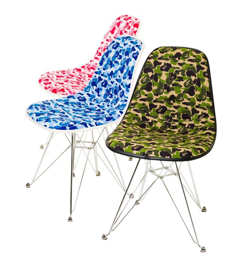 A Bathing Ape X Cover It All Camo Chair