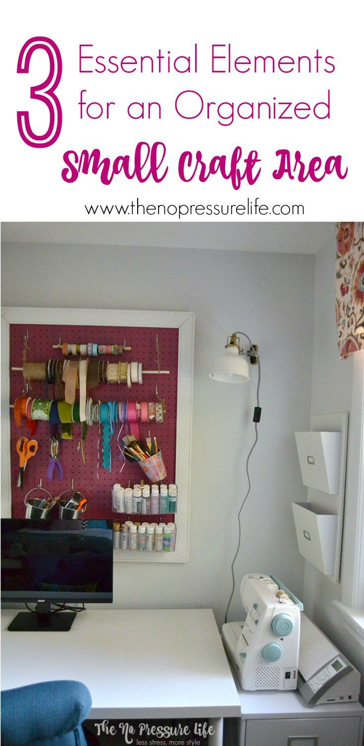 Create And Organize A Small Craft Area With 3 Essential Tips Plus See A Inspiring Craft Room Makeover Craft Area Craft Room Storage Craft Room Organization