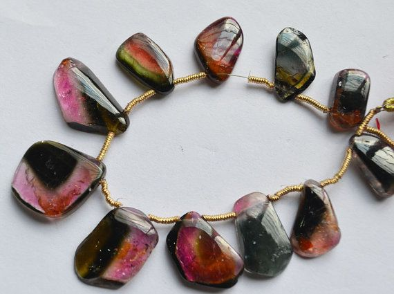 11 pcAmazingNatural watermelon Tourmaline Smooth by GauravExports, $999.00