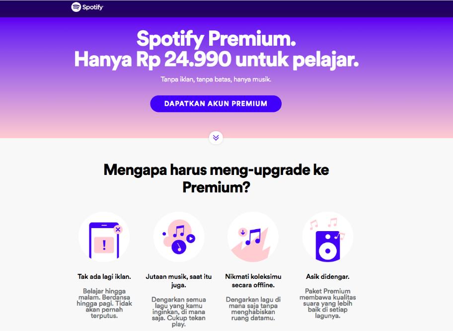 Spotify Premium Harga Pelajar Akhirnya Dirilis Murah Ya Http Situsiphone Com Spotify Premium Harga Pelajar Akhirnya Dirilis Murah Ya Spotify Lagu Belajar
