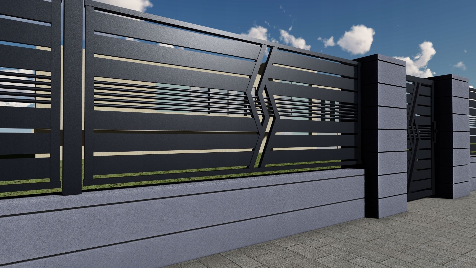 Ogrodzenie Panelowe Plot Brama Palisada Gobe 369 8832799588 Oficjalne Archiwum Allegro In 2020 Front Gate Design House Gate Design Gate Designs Modern