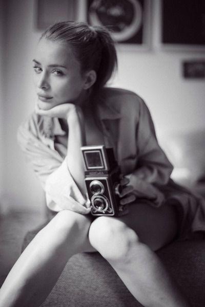 Sexy lady photographer