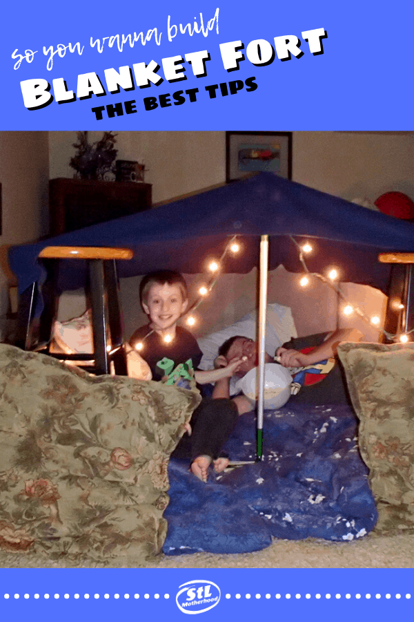 Tips for an Epic Pillow Fort | stlMotherhood