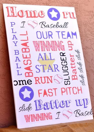 Vintage Baseball Baby Shower Decoration Signage Baby Shower