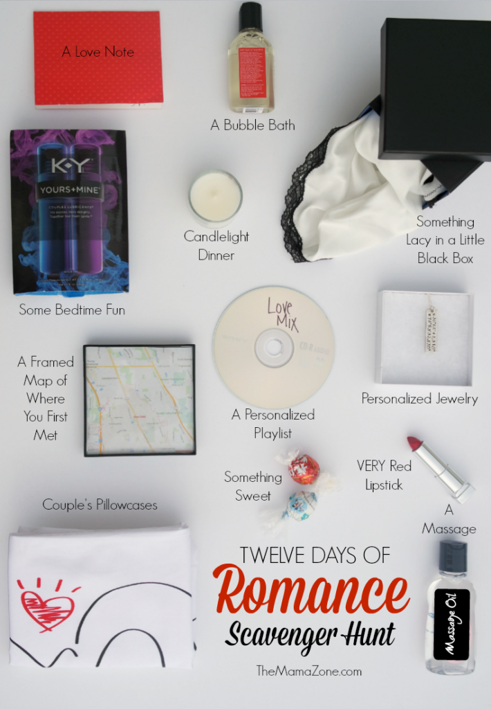 The MamaZone Romantic Scavenger Hunt Gift Ideas More