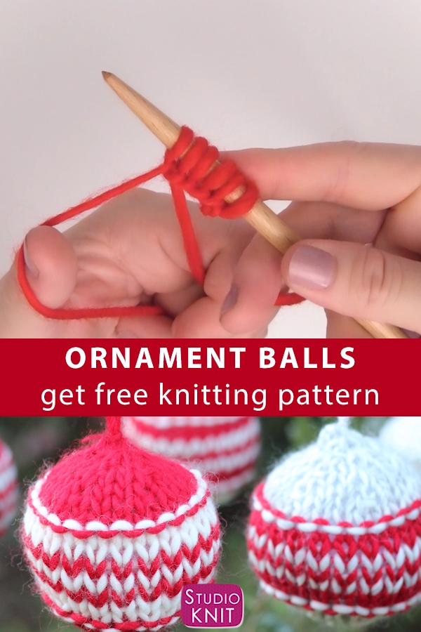 Photo of Knitted Christmas Ball Ornaments Free Pattern