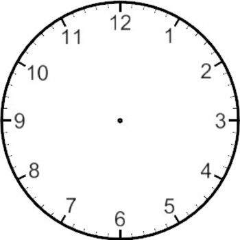 Drawing The Time On A Clock Time