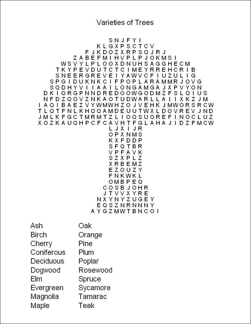 Free Printable Word Search Puzzles | WORD PUZZLES