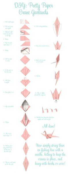 Paper Crane Diy Garlands Folding 1000 Origami Cranes Is Truly A