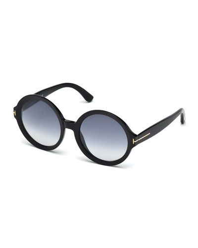 21cbb2d4b27 D0ZB2 TOM FORD Round Acetate Sunglasses