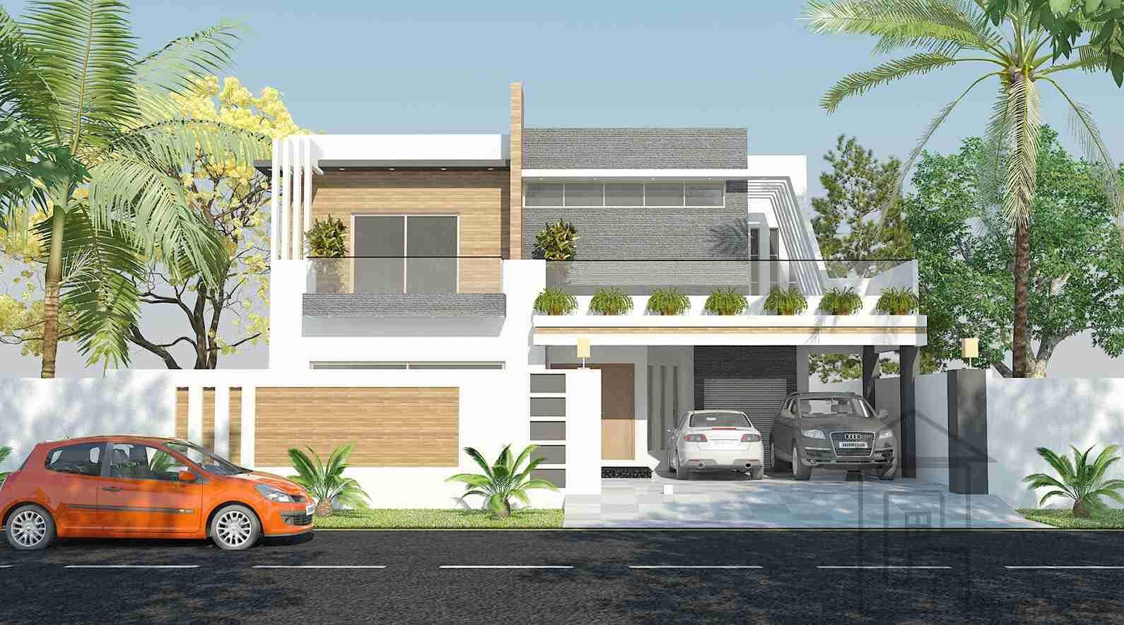 1 kanal house design front elevation | House front design ...