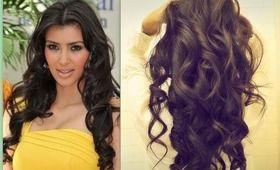 ★ KIM KARDASHIAN HAIR | HOW TO CURL LONG HAIR TUTORIAL | BIG, SEXY, SOFT CURLS…