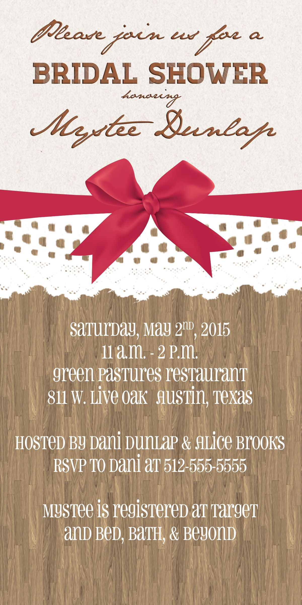 Country Bridal Shower Invitation Template 23 | Wedding Bliss ...