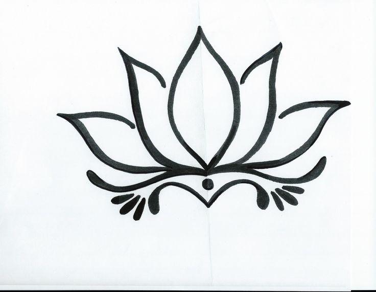 Simple Lotus Flower Drawing Tattoo Tattoo Ideas Pinterest Lotus Flower Drawing Flower Drawing Design Lotus Drawing