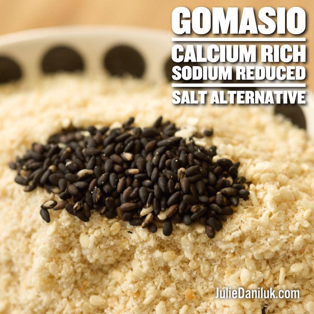 Increase calcium magnesium intake with gomasio